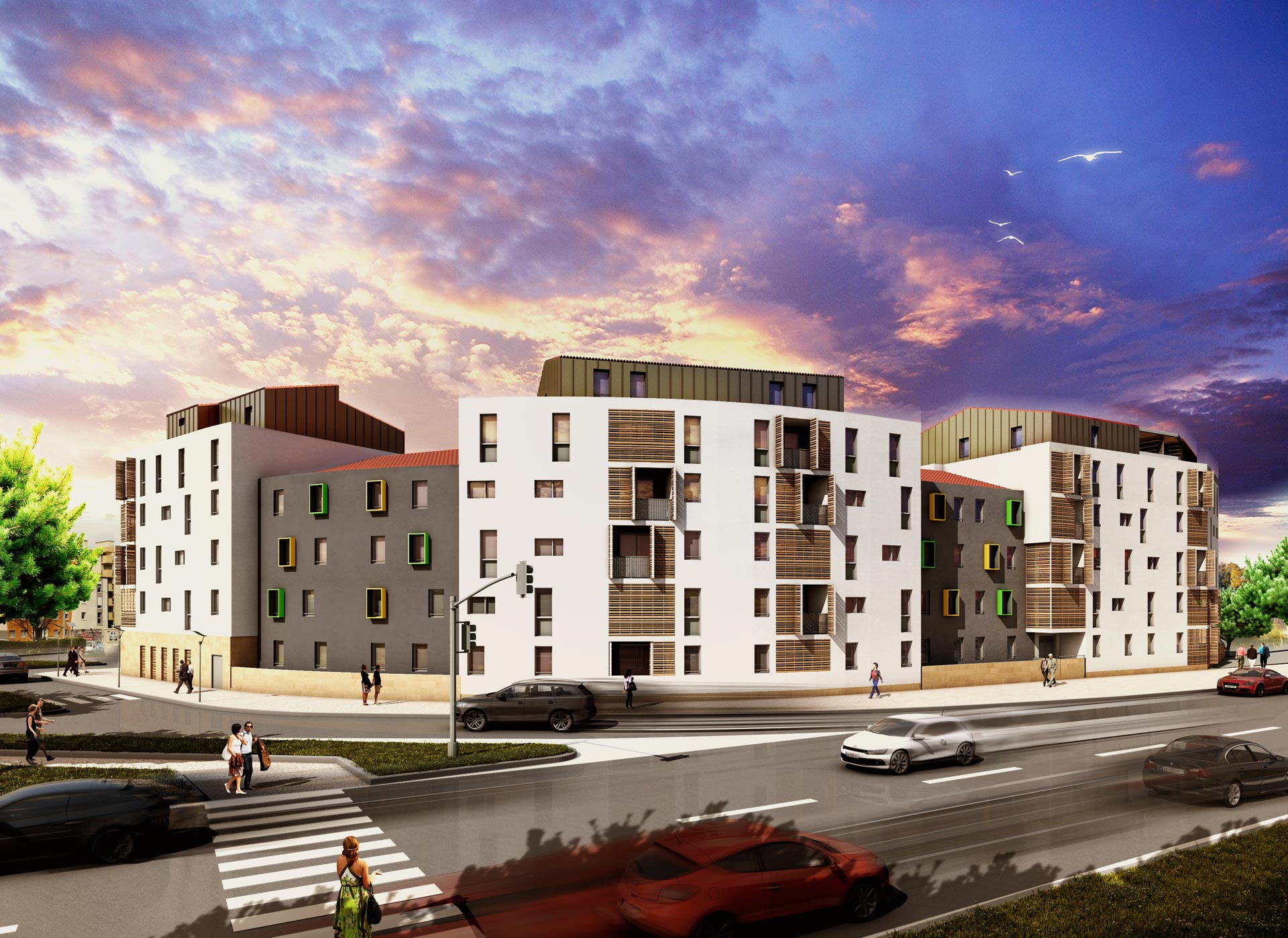 Logements collectifs la feuillade montpellier 34 for Agence d architecture montpellier